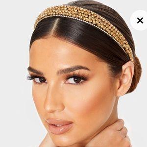 Zara   gold tone zircon headband